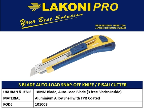 3 BLADE AUTO-LOAD KNIFE/PISAU CUTTER