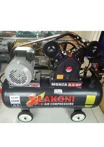 ELECTRIC MOTOR BELT DRIVEN AIR COMPRESSOR 0.5 HP - 60 LTR